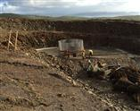 Foundation works at one of Furness Wind Farm's turbines